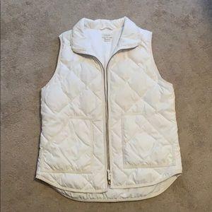 White quilted J Crew vest EUC
